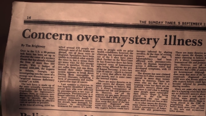 It's A Sin - a 1981 story about Aids
